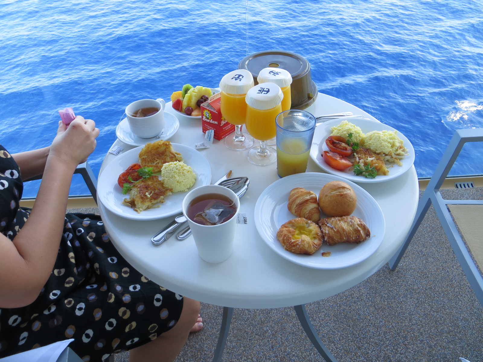 Frokost på utvendig balkong